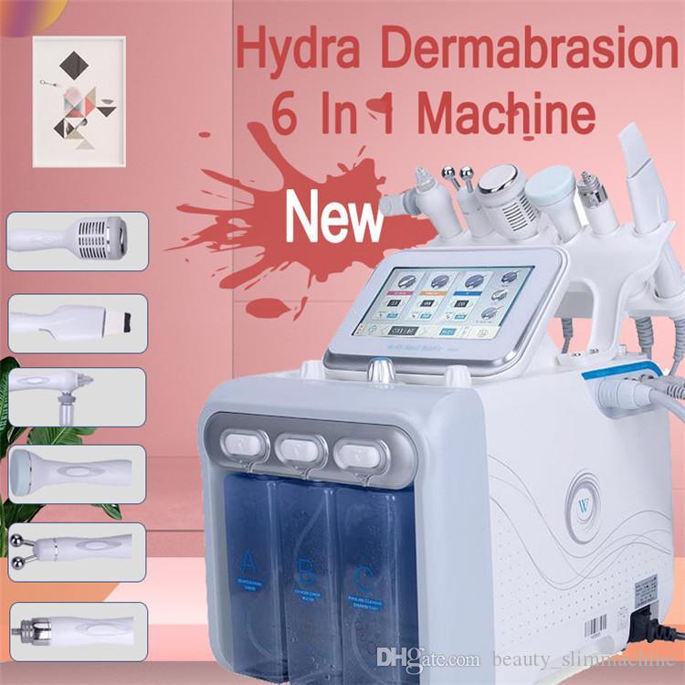 Hidra H2-O2 portátil Dermabrasión Aqua Peel RF Bio-lifting Spa Facial Hidráulica Microdermabrasión Máquina facial Máquina de tratamiento Martillo frío Oxígeno