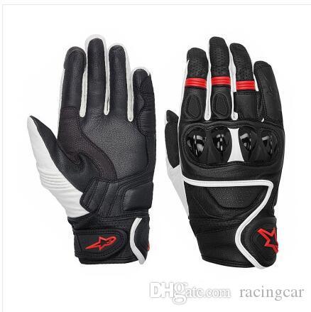 Nuovi guanti guscio duro moto italiana MMG unico esemplare guanti di cuoio da corsa guanti di guida resistente alle rotture per cavaliere