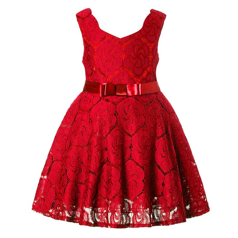 Kids Designer Clothes Hollow Pattern Fabric Princess Skirt Jumper Skirt Formal Party Dress Fashion And Comfort Style