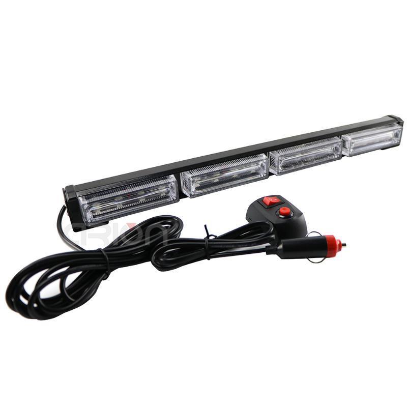 High Power 48W 16 LED Emergency Vehicle Car Truck Strobe LED Light Bar Flashing Warning Lights Lamp Amber Red Blue Green 12V 24V