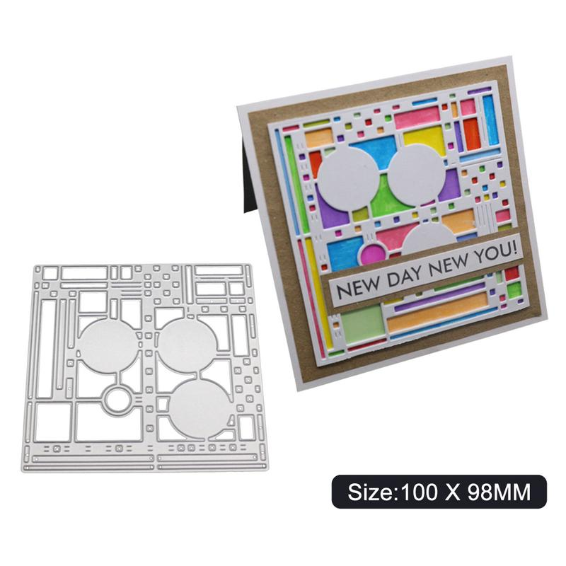 Circle Square Frames Metal Cutting Dies Scrapbooking Embossing DIY Stencil Craft