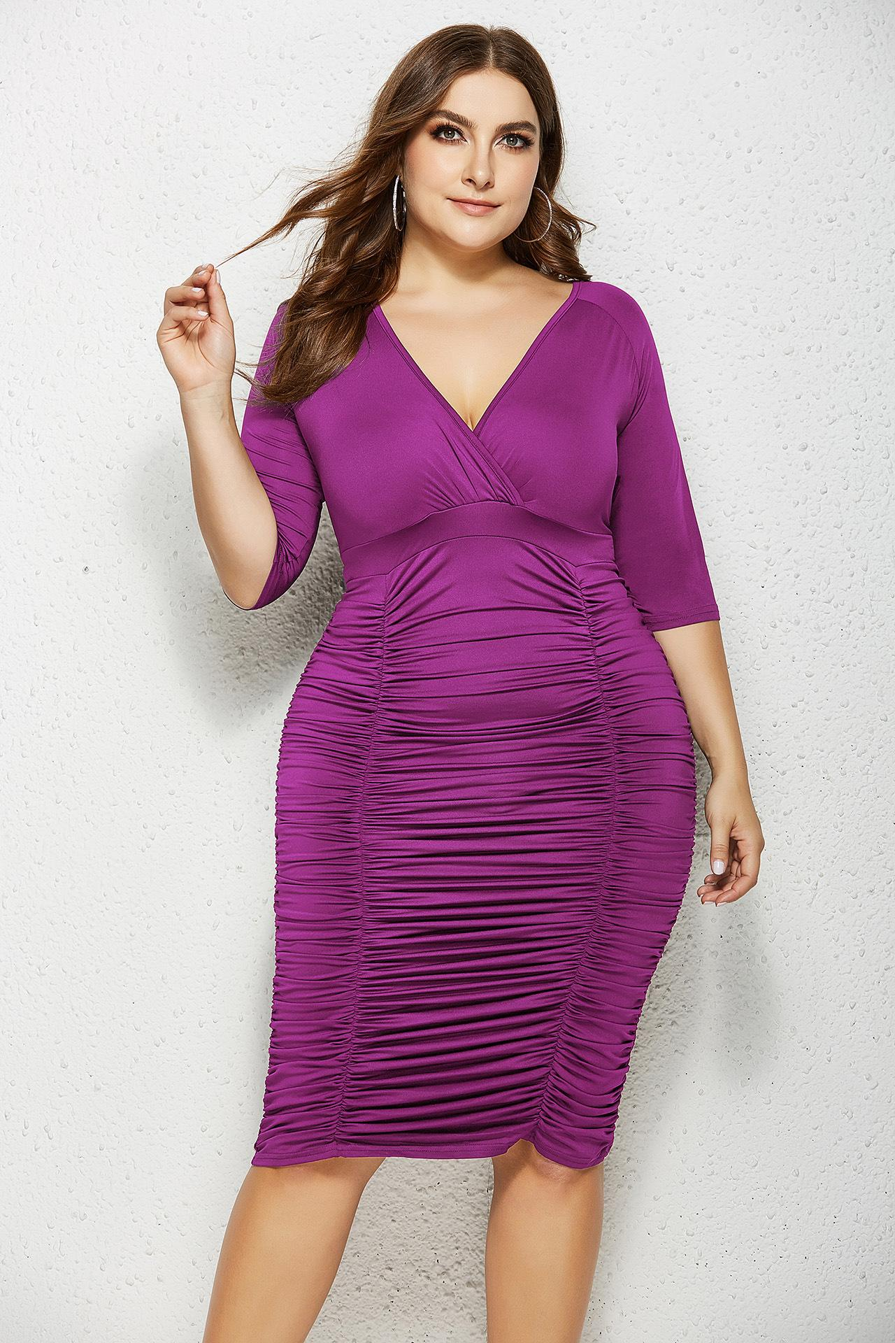 8 Womens Bodycon Dress Plus Size Dresses Party Tight