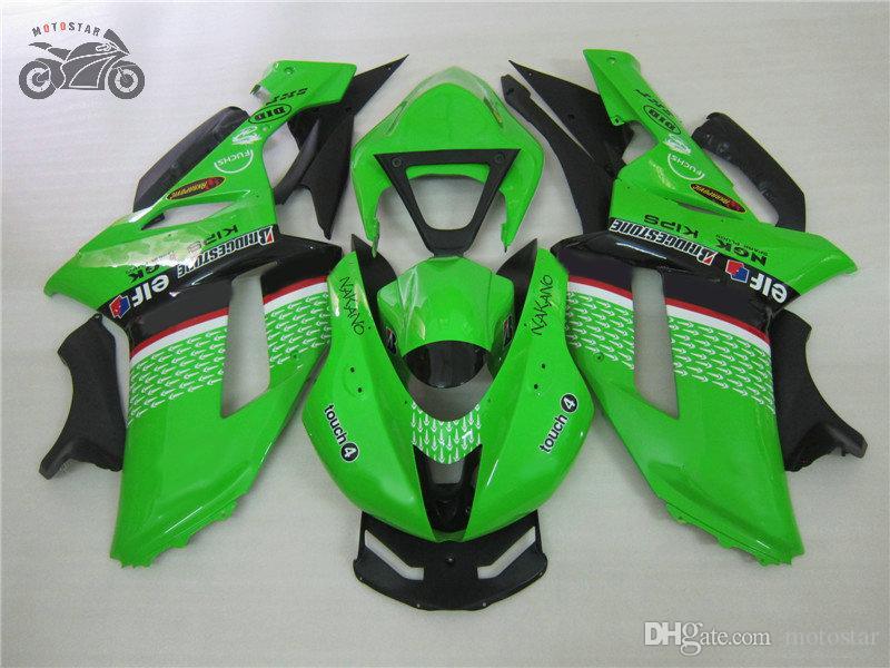 carenados de motos chinas para Kawasaki Ninja ZX6R 2007 2008 636 ZX6R 07-08 ZX 6R 07 08 conjunto completo del mercado de accesorios carenado kits