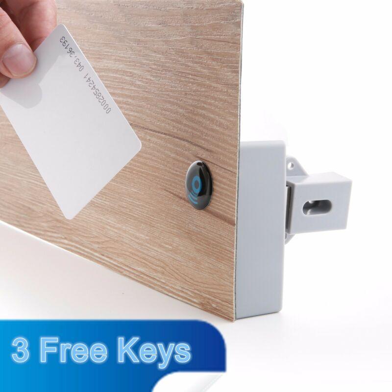 Perfore Delik Akıllı İndüksiyon Lock olmadan Pil RFID Dolap Çekmece Kilidi DIY Gizli Dijital Kilit