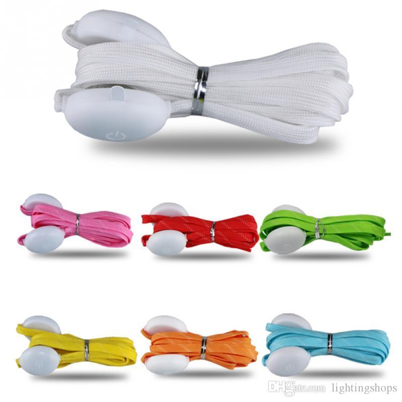 LED تضيء أربطة الحذاء مع الملونة وامض ديسكو حزب تضيء حزام نايلون الوهج لحزب الليل الهيب هوب الرقص 100pcs (50 زوجا)