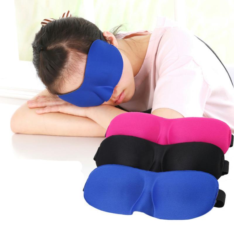 DHL Kargo 3D Göz Sleeping Maskesi Saten Gözbağı Yumuşak Göz Gölge Nap Kapak Gözbağı Yumuşak Göz Maskesi Gölge Kapak X332FZ Sleeping