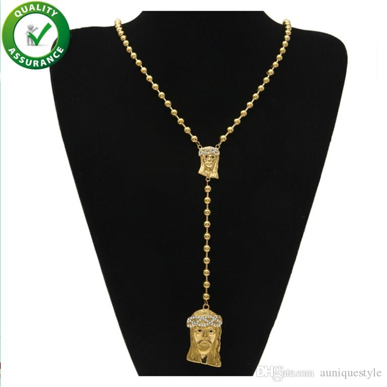 Hip Hop Jewelry Mens Iced Out Chains Jesus Piece Necklace Luxury Designer Pendant Bling Shiny Gold Rapper Chain Fashion Pandora Style Charms