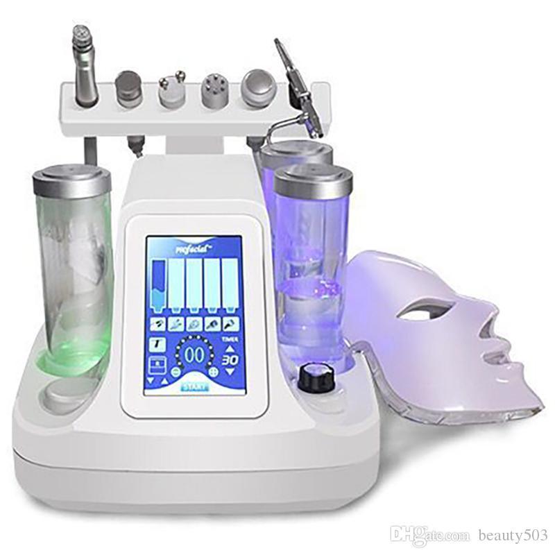مهنية 7 IN 1 Hydrafacial هيدرا جلدي LED قناع التقشير أكوا BIO رفع الموجات فوق الصوتية RF الباردة المطرقة آلة SPA لتنظيف الوجه
