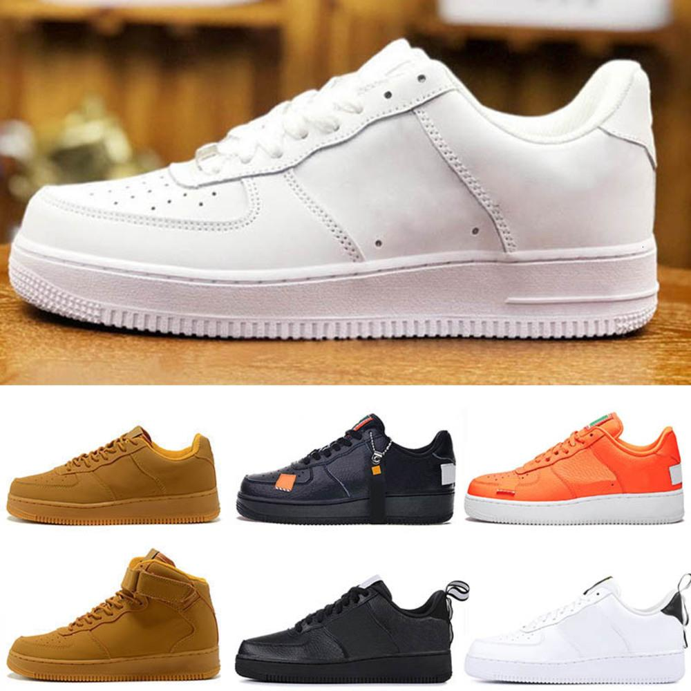 One 1 Dunk Running Shoes All Black Triple S White Men Women Sports Skateboarding Ones High Low Cut Wheat Brown Trainers Sneakers 36-45