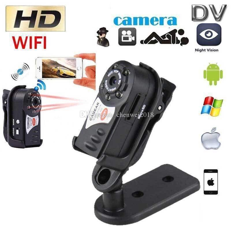 Wifi mini DV DVR Q7 Wireless IP Camcorder Portable Infrared Night Vision small Camera Digital Video Recorder support Motion Detection