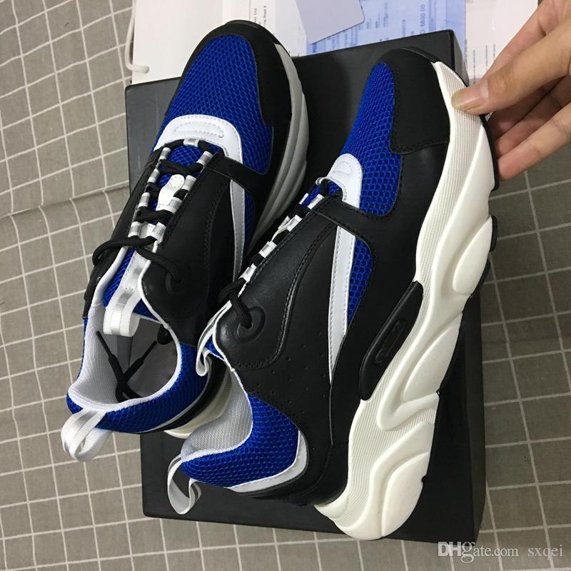 CONTRASTE COR New Designer de Luxo Marca Sneakers Homens Lazer Sports Homens desenhista calça UK Sapatos Moda para Mulheres Tamanho 35-46