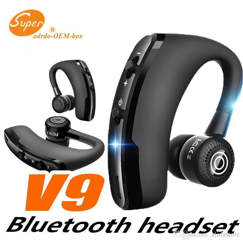 V9 Handsfree Wireless Bluetooth Earphones Noise Cancelling Business Headset With Mic For Driver Office Sports Wireless Cell Phone Headsets Wireless Earphones For Phone From Alidastore 5 46 Dhgate Com
