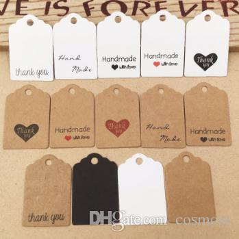 DIY Kraft Paper Tags Gift Wrap Label Blank Price Tag Kraft Gift Hang Tag Wedding Party Supplies 3x2cm 1000pcs