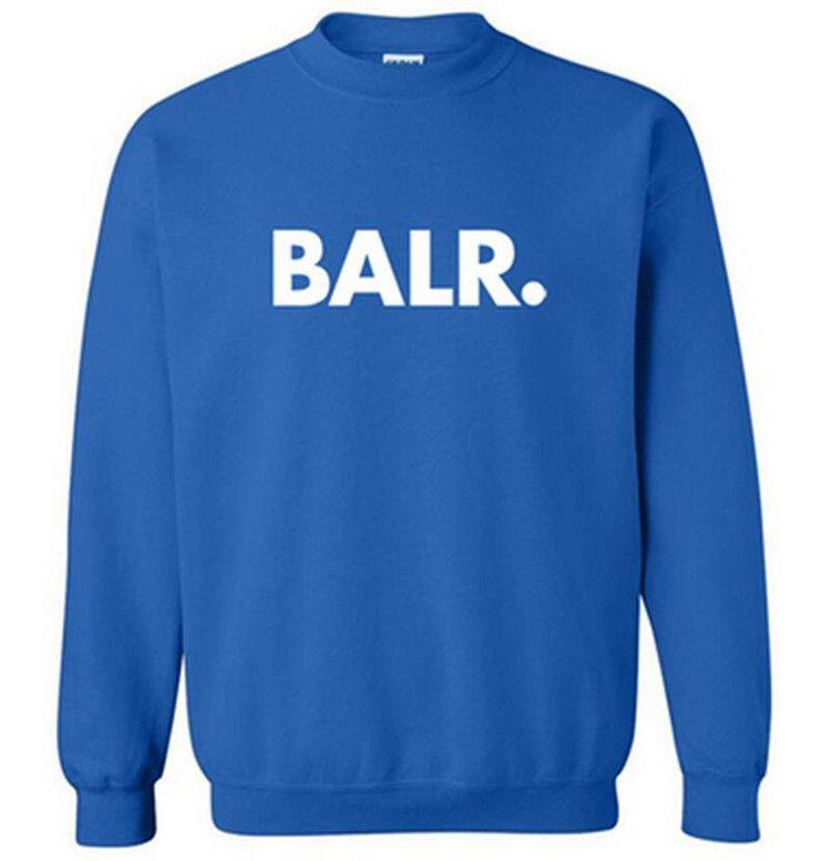 Uomini BALR panno morbido stampato con cappuccio Primavera Autunno Inverno a maniche lunghe con cappuccio magliette casual Pullover Mens Sportswear Felpa WW-3