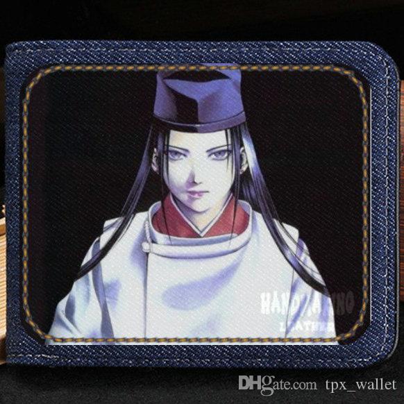 Fujiwara no Sai Brieftasche Hikaru no Go Geldbörse Cartoon kurzer Geldnotenkoffer Geld-Notizbuch Leder Jean Burse Tasche Kartenhalter