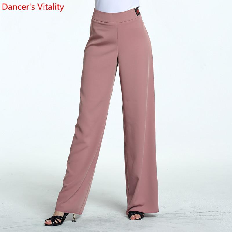 The New laterali 8 colori Donne ballo latino pantaloni adulti Dance Performance Abbigliamento Nazionale standard moderni pantaloni di colore solido