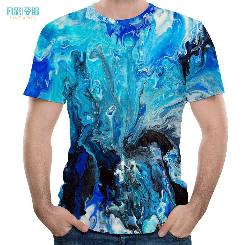 Haihun 3D-Druck Crewneck Kurzarm-T-Shirt der Männer Kurzarm-T-Shirt Sommer-kühlen Top T-Shirt # 12345
