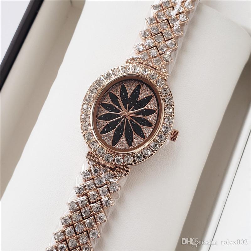 Orologi di lusso Orologi da donna M Diamanti Quadrante cinturino Numeri romani Orologi al quarzo per donna Designer orologi da donna spedizione gratuita
