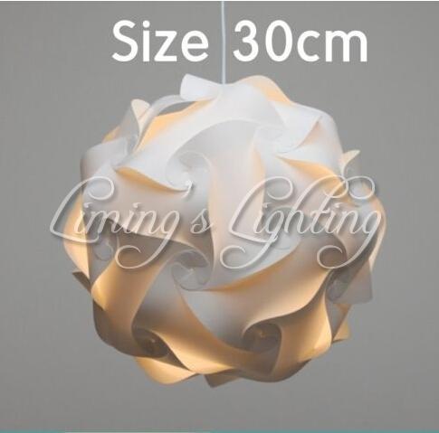 ¡¡¡NUEVO!!! 300MM contemporáneo moderno DIY Elementos IQ rompecabezas ZE Pantalla de lámpara de techo de la lámpara pendiente de la bola de luz de iluminación 110-240