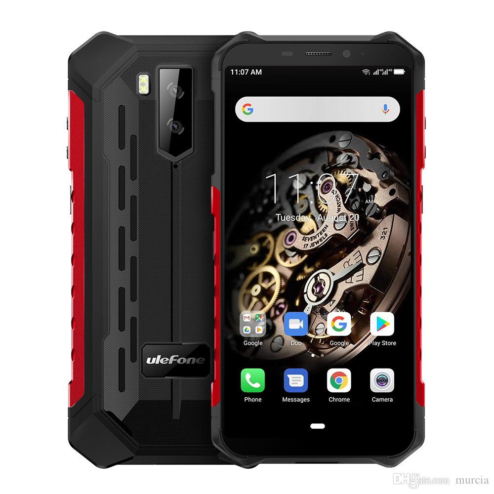 "Ulefone درع X5 5.5 ""الهاتف المحمول 4G LTE وعرة للماء الهاتف الذكي الروبوت 9.0 الهواتف المحمولة 3GB 32GB MT6763 الثماني الأساسية IP68 NFC"