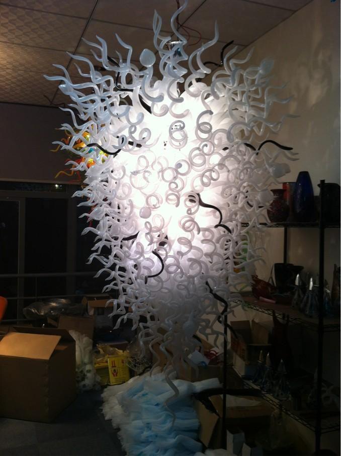 100% soplado CE UL borosilicato de Murano Dale Chihuly arte Sala de estar clásica grande de la lámpara