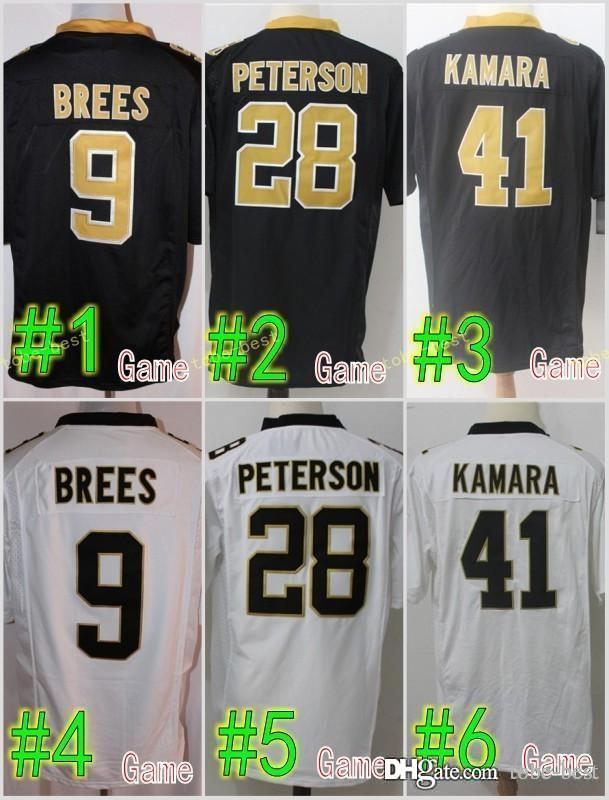 New Orleans 41 Alvin Kamara Saints Jersey Men 23 Marshon Lattimore 9 Drew  Brees 13 Michael Thomas 9 Drew Brees 28 Peterson Stitched Jersey UK 2019  From Tobe ... 5be739a6e