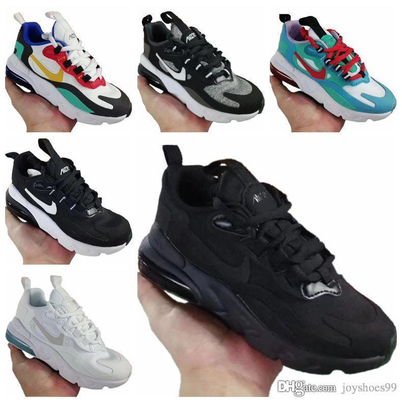 270 Bauhaus Çocuk Net Gazlı bez Nefes Ayakkabı Originals React270 Bauhaus Zoom Air ve Tampon Köpük Jogger Ayakkabı Koşu tepki