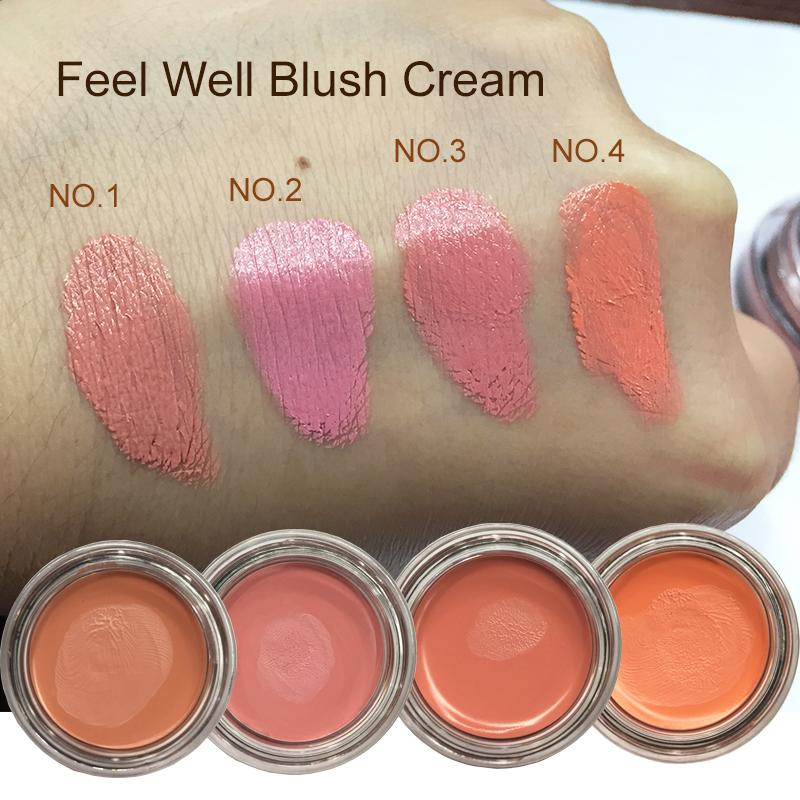 Feel Well Face Blusher Rouge Makeup Guancia Blusher Cream Minerali Palette Blusher Brush Palette Cream Natural Blush Pink