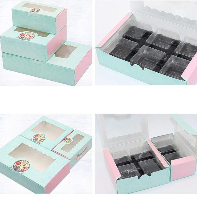 이벤트 파티 선물 상자 가방 10PCS 종이 선물 상자 창 웨딩 파티 철탑 크래프트 종이 케이크 상자 식품