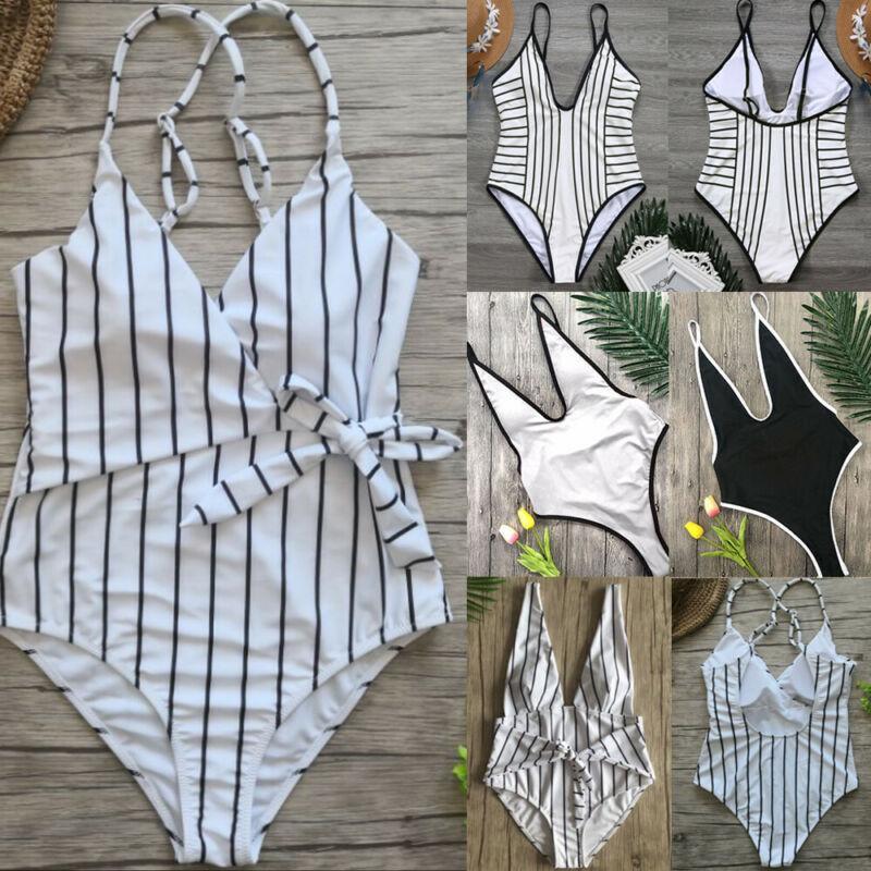 Las mujeres atractivas Swimweawr trajes de una sola pieza del traje de baño de las mujeres ropa de playa del bañista de baño de Monokini de empuje para arriba rellenado Tankini playa de las mujeres Outwear
