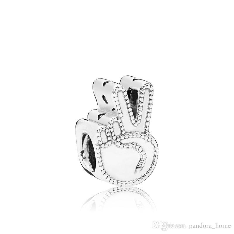 Pandora를위한 성격 우아한 매력 구슬 고품질 925 스털링 실버 매력 DIY 팔찌 상자가있는 생일 선물 상자