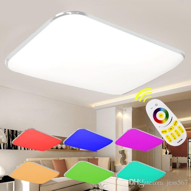 2020 LED Ceilingled Işıklar Modern ile Uzaktan Lamba İçin Salon Yatak Odası değiştirme Dim Renk Kontrollü AC90-265v