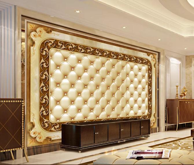 Encargo del papel pintado 3D estereoscópica magnífico TV de la pared de fondo de arte de pared de la sala dormitorio del papel pintado