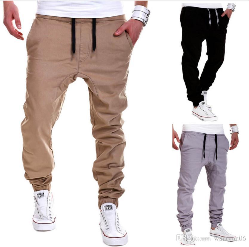 Atadura para hombres pantalones deportivos para hombre joggers para hombre HIPHOP Low Drop entrepierna PARA Jeans tamaño M-6XL 06