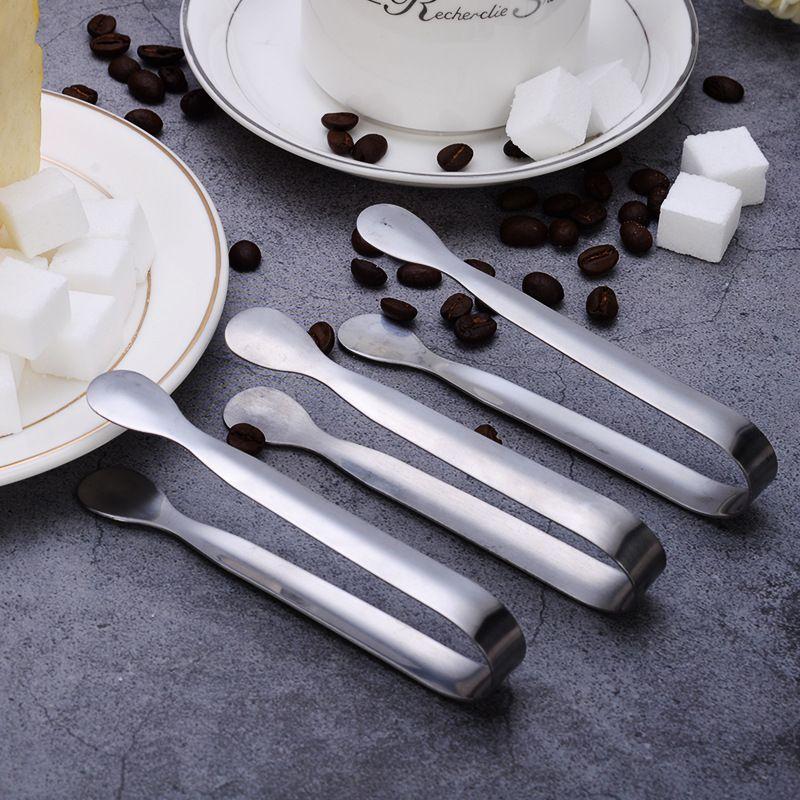 Del hielo de la abrazadera de acero inoxidable del café azúcar Pinzas barra de herramientas a la parrilla Clip Accesorios de Cocina