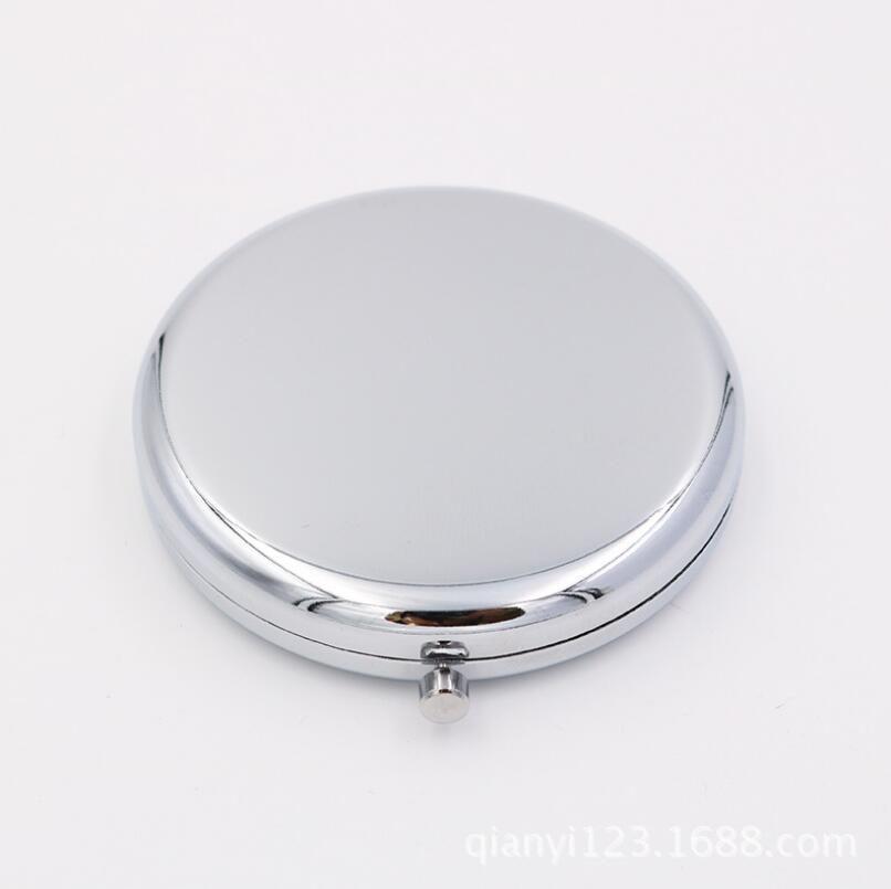 Ücretsiz kargo DIY Kiti Boş Kompakt Ayna ile 58mm epoksi çıkartmalar, Cep aynası kaynağı, Makyaj Aynası, Çift Taraflı Aynalar LX5825