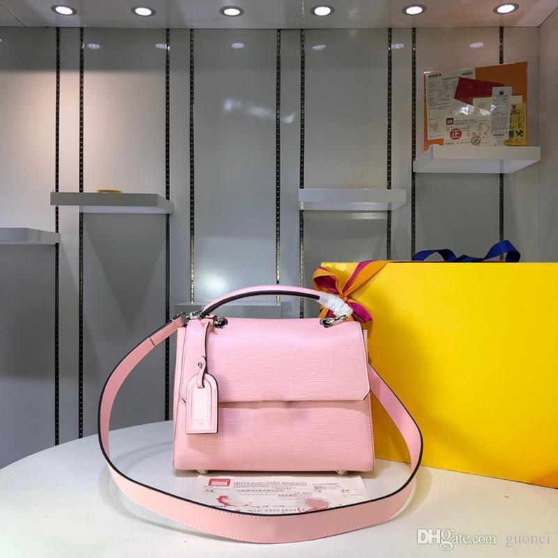 Designer-2019 mulheres de designer bolsas genuína couro sacos de ombro de couro crossbody messenger tote saco de embreagem 2019 Nova moda