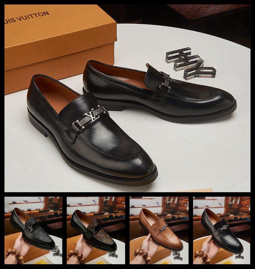 20ss Hombres Zapatos 2019 de lujo de estilo italiano Doug zapatos de gamuza punta estrecha vestido de novia zapatos de los holgazanes los zapatos de la nueva del diseño diseñadores comerciales