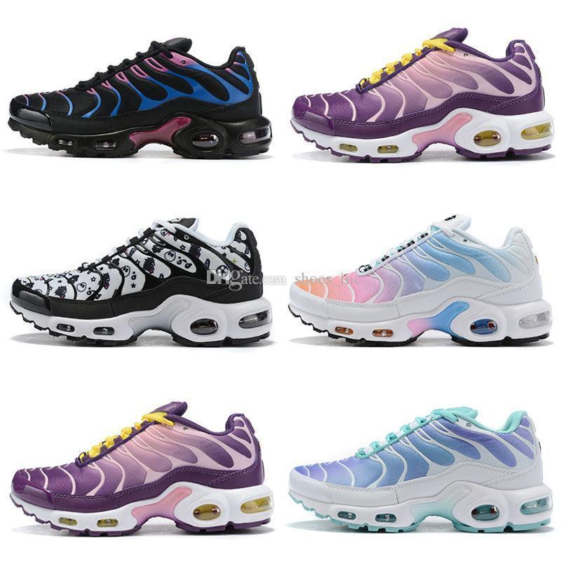 Tn Nuevo 2019 Mercurial Designer Negro Azul Amarillo Zapatillas de deporte Chaussures Homme TN Plus Zapatos Hombres Mujeres Zapatos Zapatos para correr Rainbow 36-46