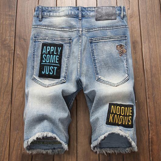 2019 concepteur Hommes Jeans Denim Shorts Summer Fashion Style Lettre Vintage brodé Shorts Vente chaude Livraison gratuite Taille asiatique gros