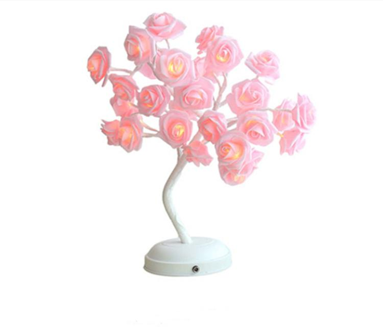 مفتاح تحكم شجرة مشرق LED مصباح المصابيح ساكورا / لمبة / زهرة أضواء شجرة أضواء بيضاء دافئة للمنزل عطلة عيد الميلاد ديكور