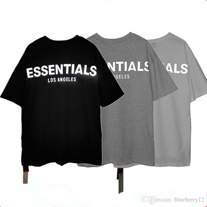 3 색 아시아 크기 S-XL과 남성 티셔츠 필수 반사 반소매 라운드 넥 패션 솔리드 티셔츠