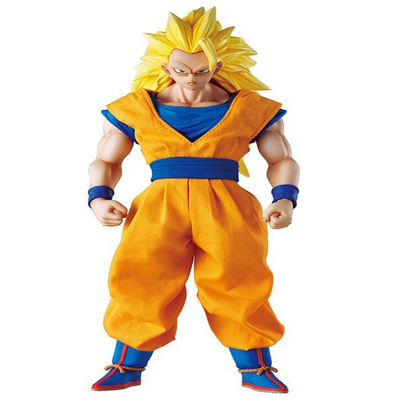 Anime Dragon Ball Z Super Saiyan Son Goku 3 PVC Action Figure Collectible Toy