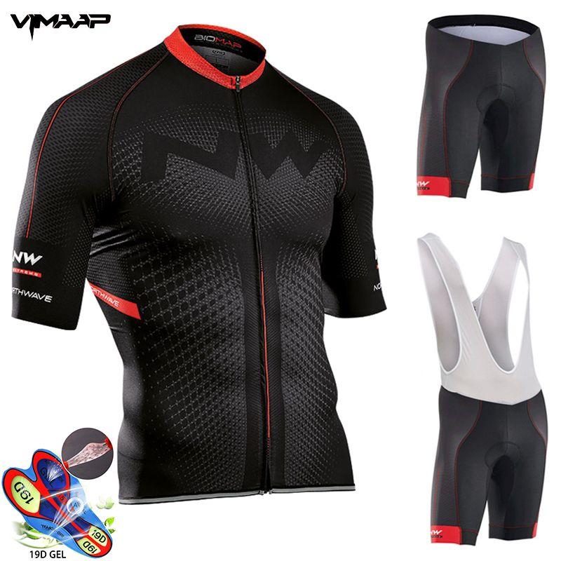 NW Pro Team Jersey Set Men Abbigliamento Ciclismo manica corta vestiti Biking Uniforme Road Bike Estate Northwave Ropa Ciclismo Maillot