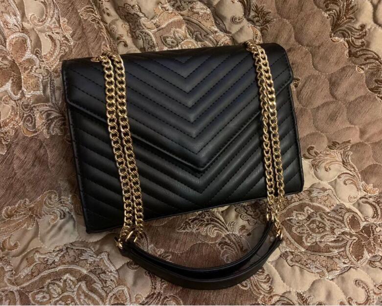 Высокое качество Известный дизайнер Сумка Pu кожа Мода Золотая цепочка мешок Крест тела Чистый цвет Женские сумки женщин перекрестное тело