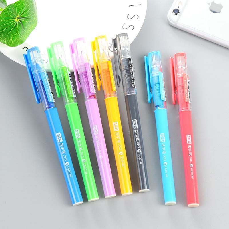 الحلوى اللون مستقيم السائل حبر القلم اللون إبرة نوع جل القلم 0.5mm و