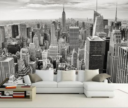 Retro Nostalgic New York Black And White City Tv Background Wallpaper Bars Hotels Wall Paper Nural Wallpaper Hd Wallpapers Wallpaper Hd Widescreen
