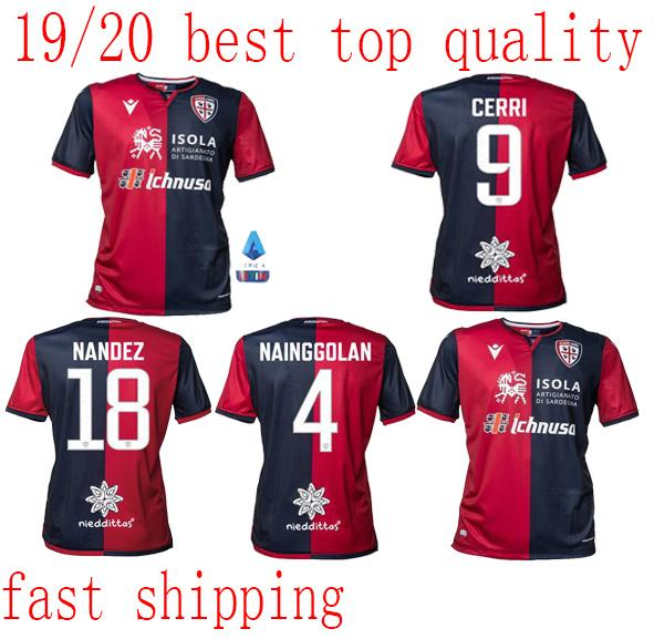 Cagliari Calcio soccer jersey 19 20 Home away red black CERRI JOAO PEDRO NAINGGOLAN NANDEZ 2019 2020 PAVOLETTI Football shirt S-XXL size