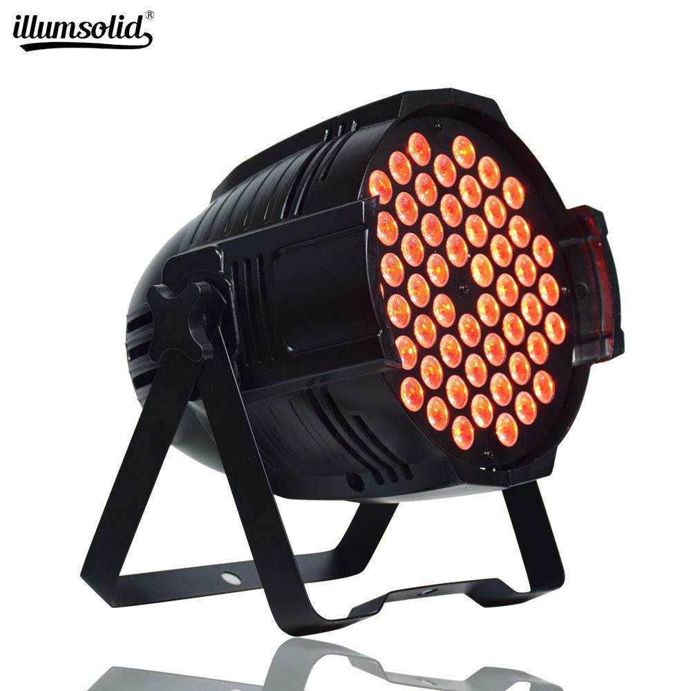 الألومنيوم LED الاسمية 54x3W RGB LED 3IN1 الاسمية يمكن الاسمية 64 بقيادة الأضواء دي جي إضاءة مسرح غسل العرض الإضاءة