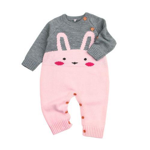 Hot Cute Kids Детские Для девочек Для мальчиков очарователен кролик Romper свитер комбинезон Пуловер Эпикировка